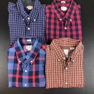 Lot of 4 Mens J. Crew Button Front Shirts XL
